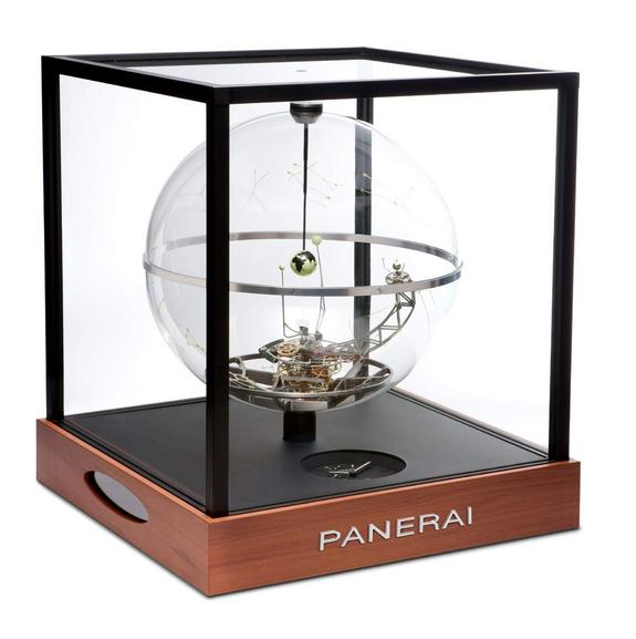 Italian watchmaker Officine Panerai crafted this planetarium clock, called Jupiterium, to mark the 400th anniversary of Galileo's discovery of the four main moons around Jupiter.