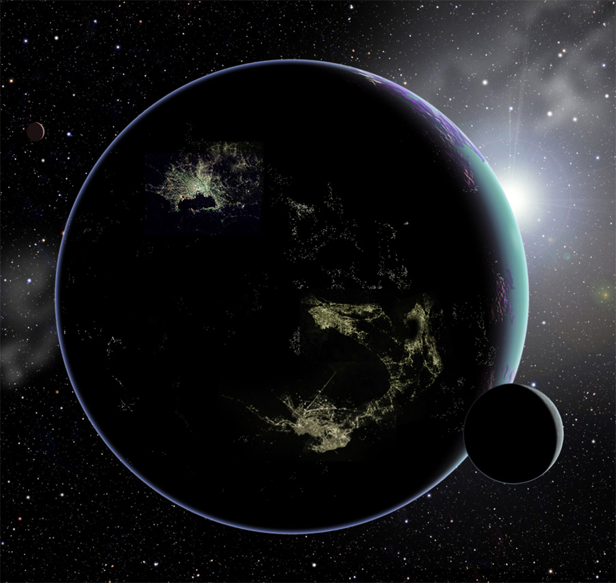 Alien City Lights Could Signal E.T. Planets