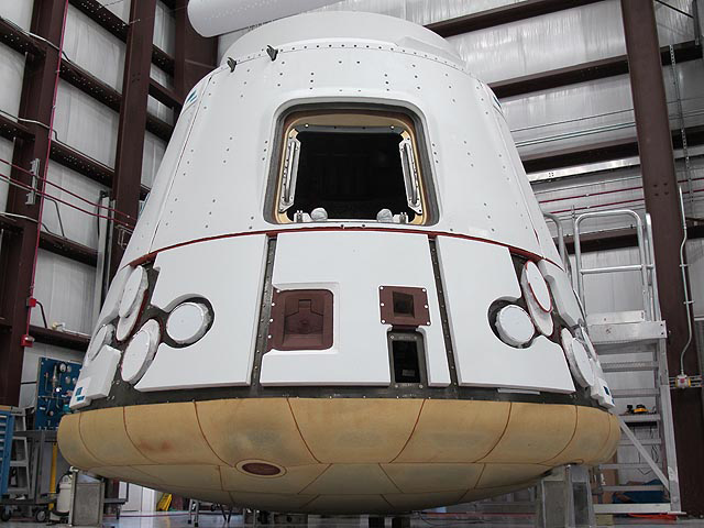 Dragon Spacecraft in the SpaceX Hangar at Cape Canaveral