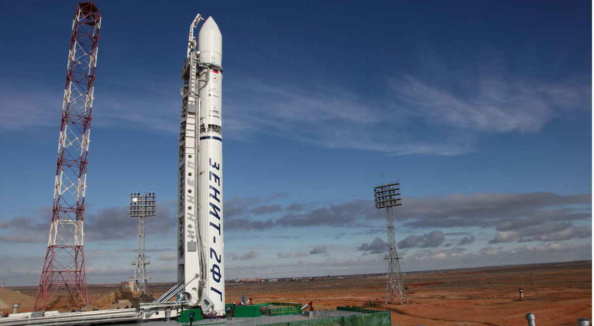 Russian Phobos-Grunt Spacecraft on the Launchpad