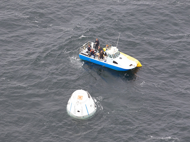 Dragon Spacecraft Ocean Recovery