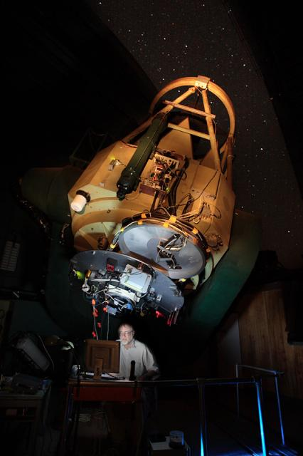 Asteroid 2005 YU55's Discoverer at Bok Telescope