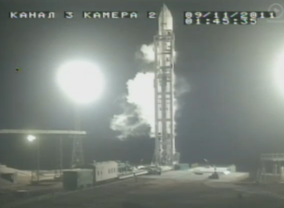 Phobos-Grunt Minutes Before Launch
