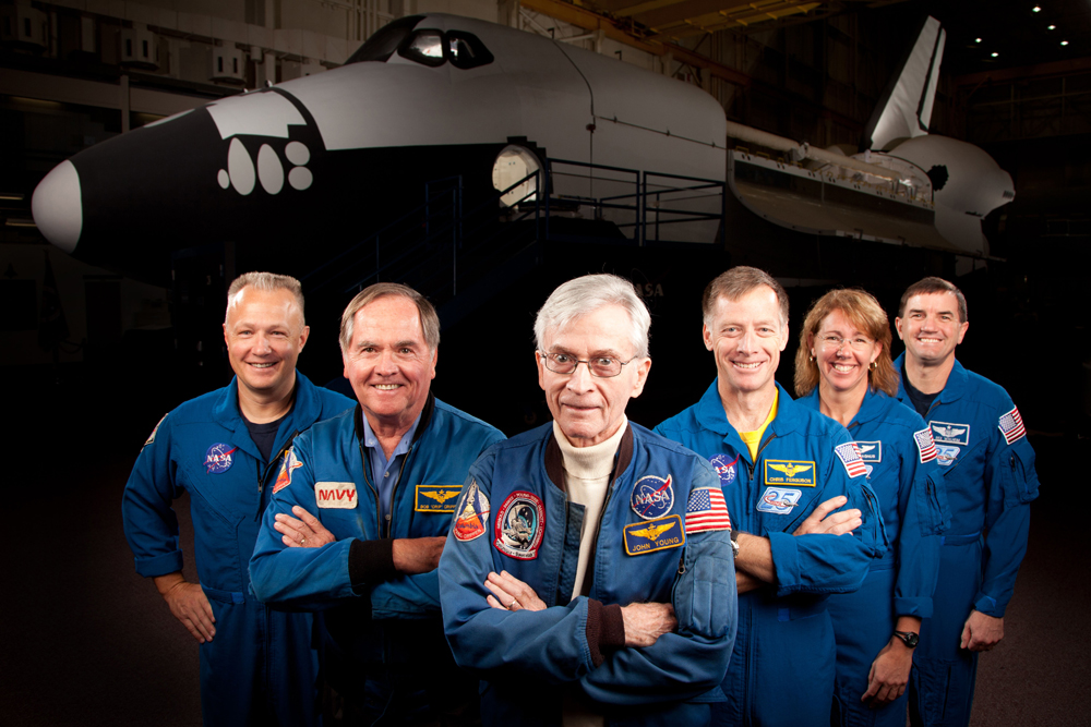 The First and Last Space Shuttle Crews