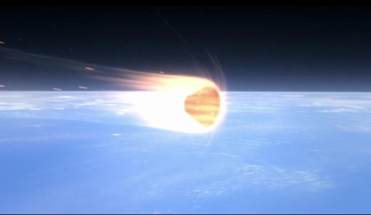 Orion Exploration Flight Test 1: Re-entry