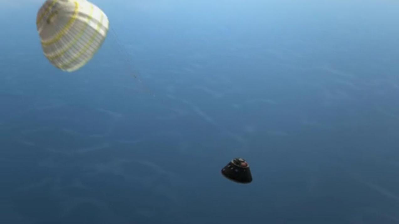 Orion Exploration Flight Test 1: Descent