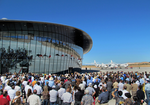 Spaceport America Terminal Hangar dedication in October 2011.