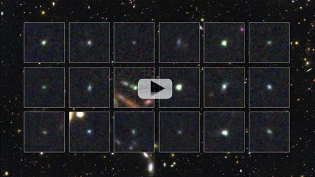 Hubble: Young Galaxies Burst with Stars