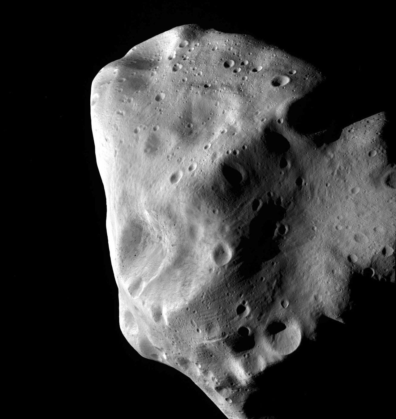 Asteroid Lutetia From Rosetta Spacecraft