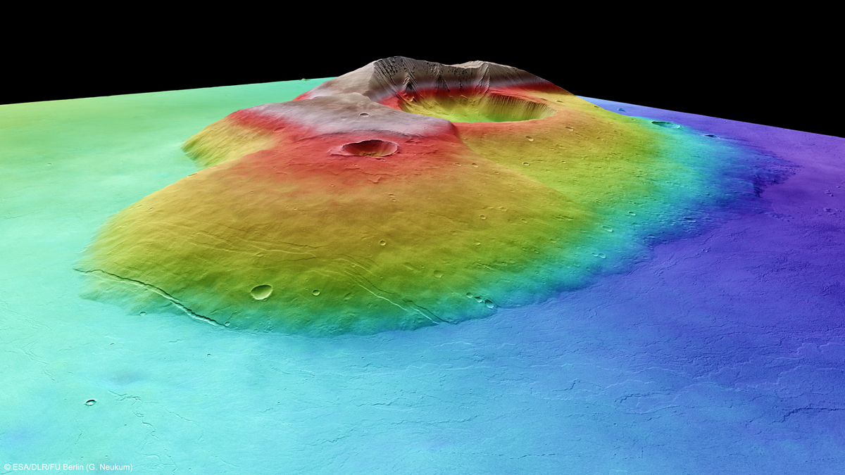 Martian Volcano Tharsis Tholus in Perspective 2