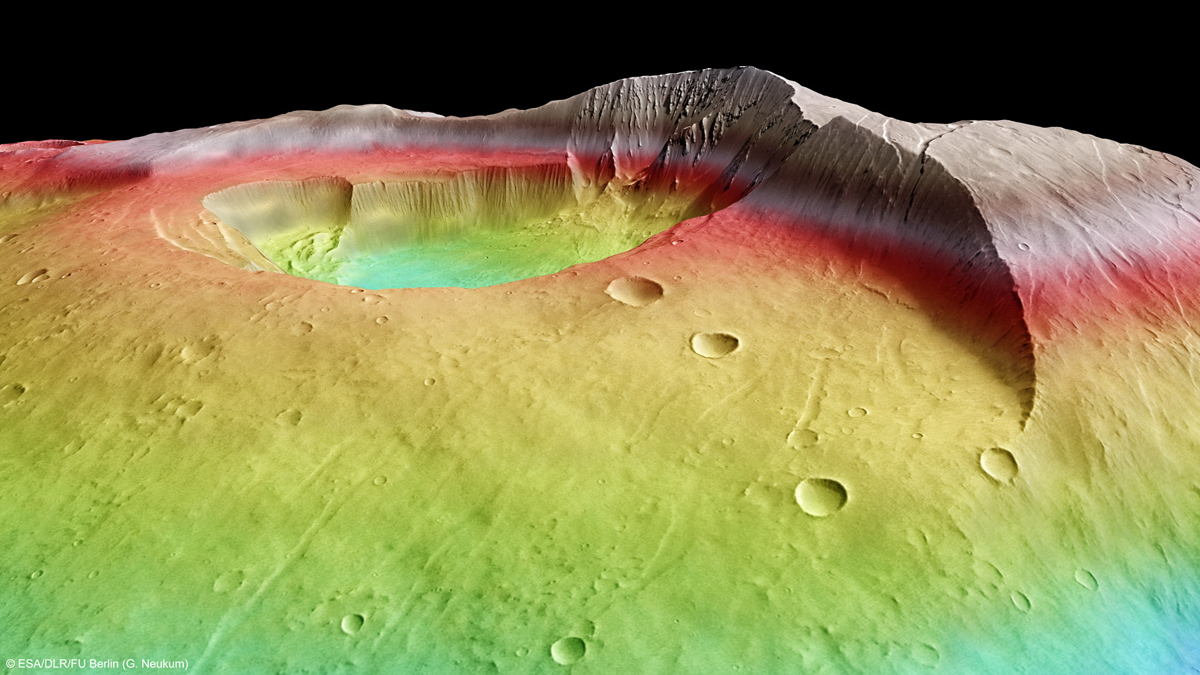 Martian Volcano Tharsis Tholus in Perspective 4