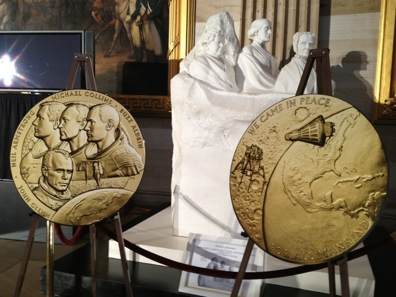 Congress awards gold medals to Apollo 11 astronauts and former ...