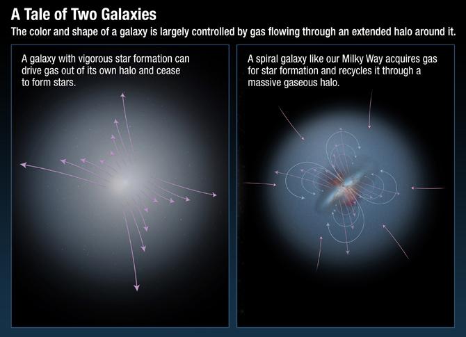Galaxy Halos Recycle Interstellar Gas Into Baby Stars