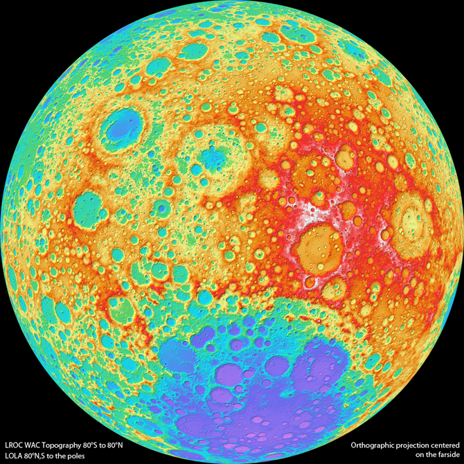 NASA Probe Beams Home Best Moon Map Ever