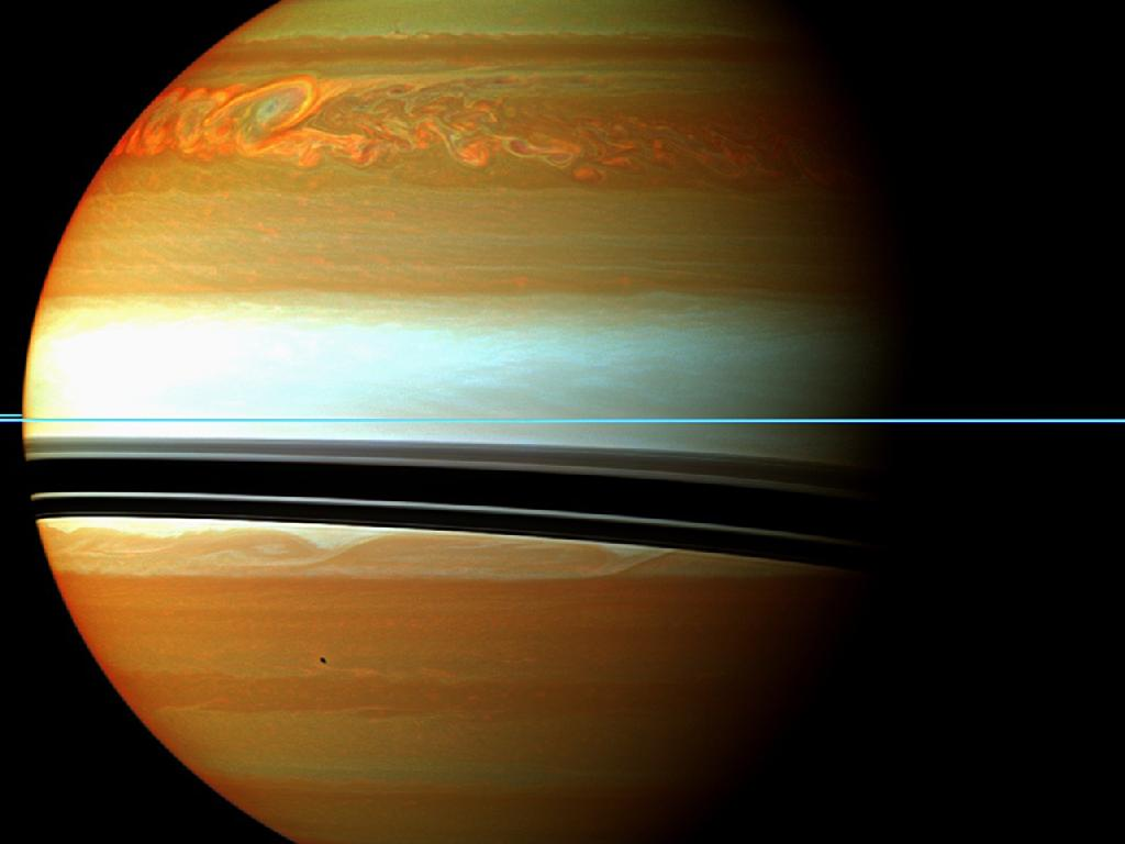 Cassini View of Giant Saturn Storm