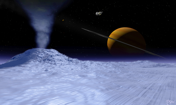 Geysers similar to those found on Saturn's moon, Enceladus, could be revealed on Pluto by the New Horizons craft.