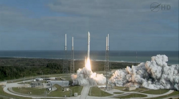 NASA's Mars rover Curiosity blasts off from Cape Canaveral Air Force Station in Florida on Nov. 26, 2011.