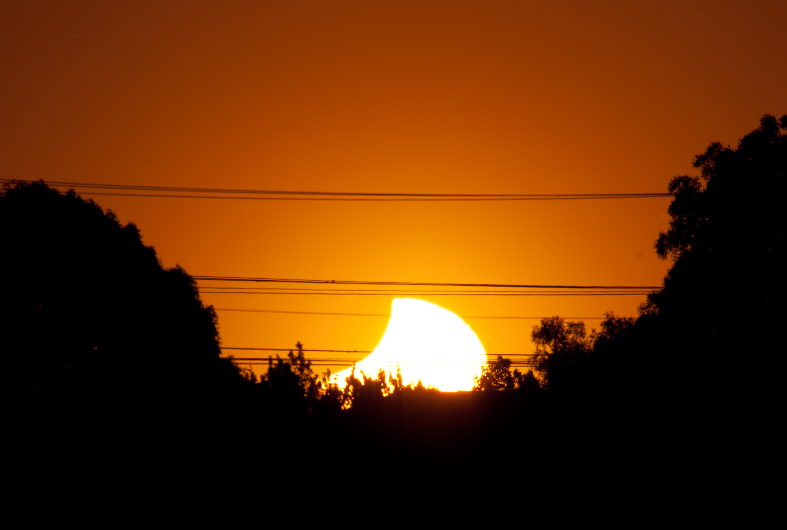 Partial Solar Eclipse From Christchurch, New Zealand - Nov. 25