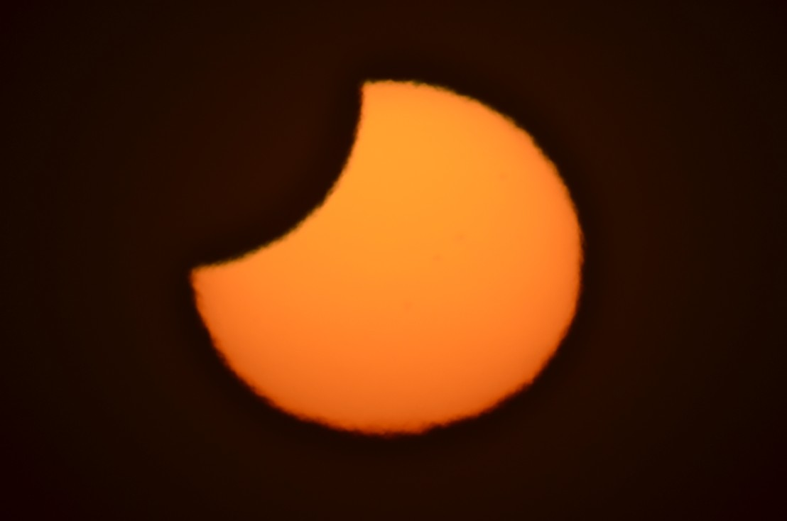 Skywatcher James Tse snapped this view of the partial solar eclipse on Nov. 25, 2011 from Christchurch, New Zealand.