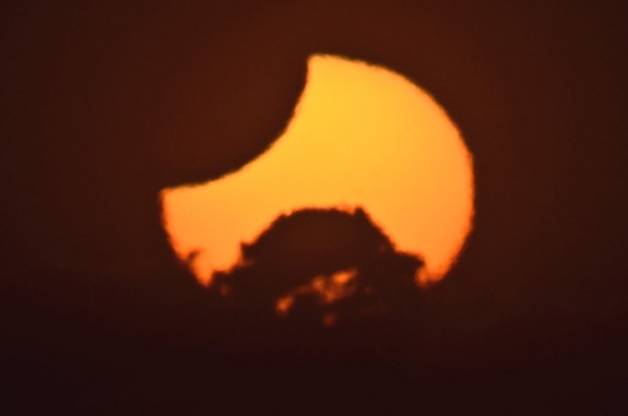 James Tse snapped this stunning photo of the partial solar eclipse on Nov. 25, 2011 from New Zealand.