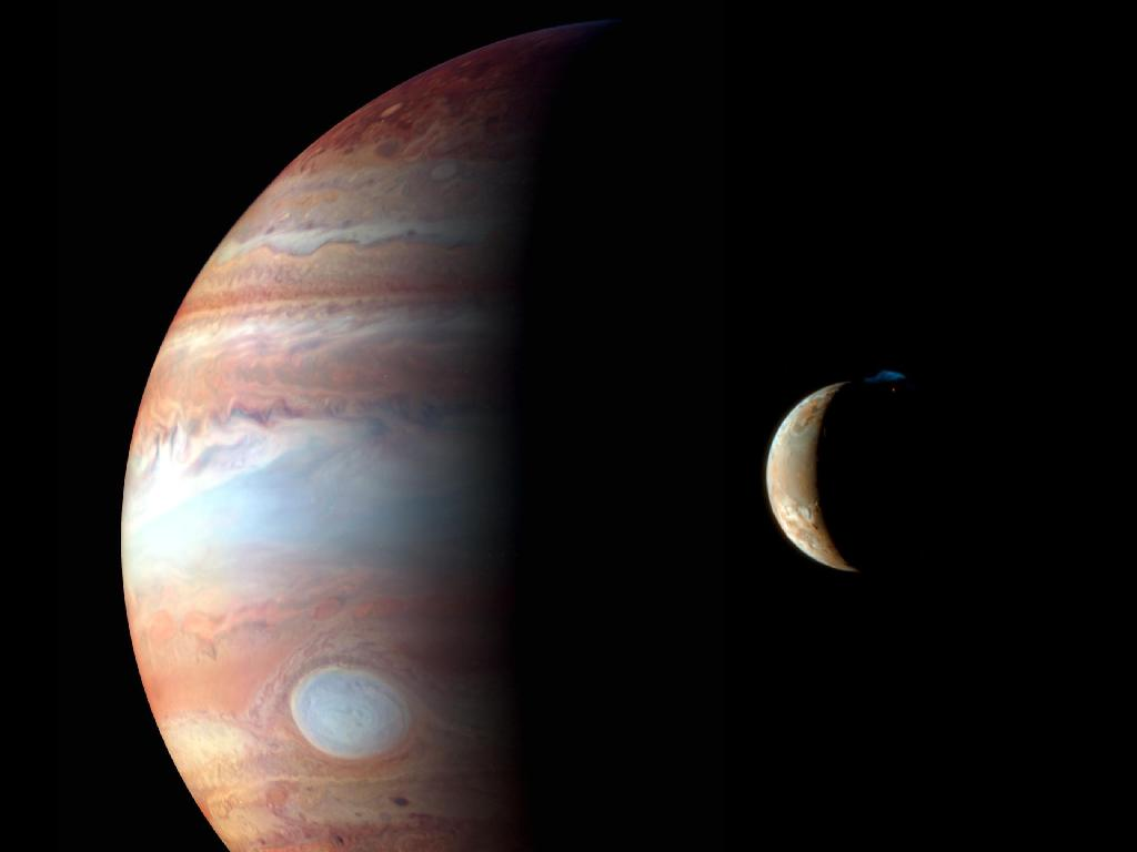 Jupiter and Io, by New Horizons