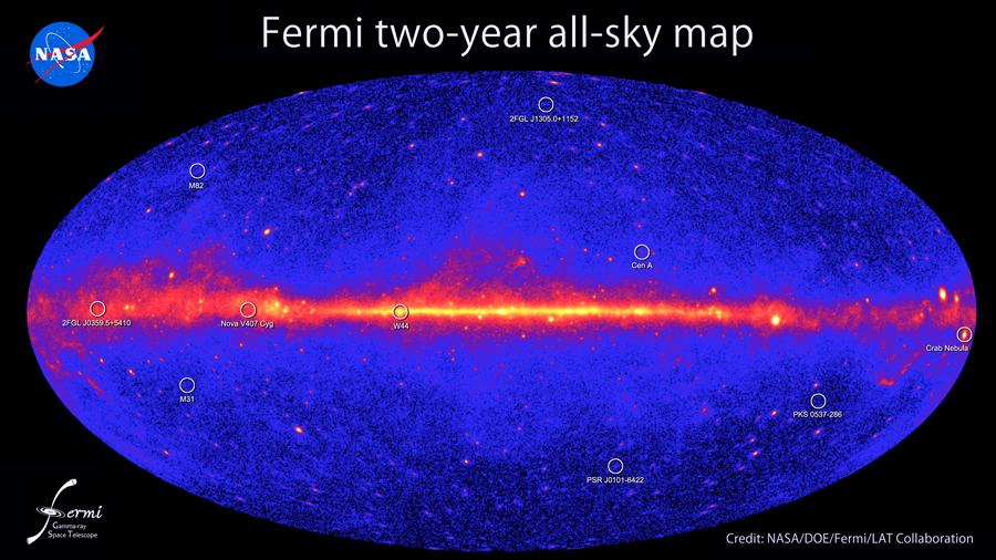 Fermi's All-Sky Gamma-Ray Map