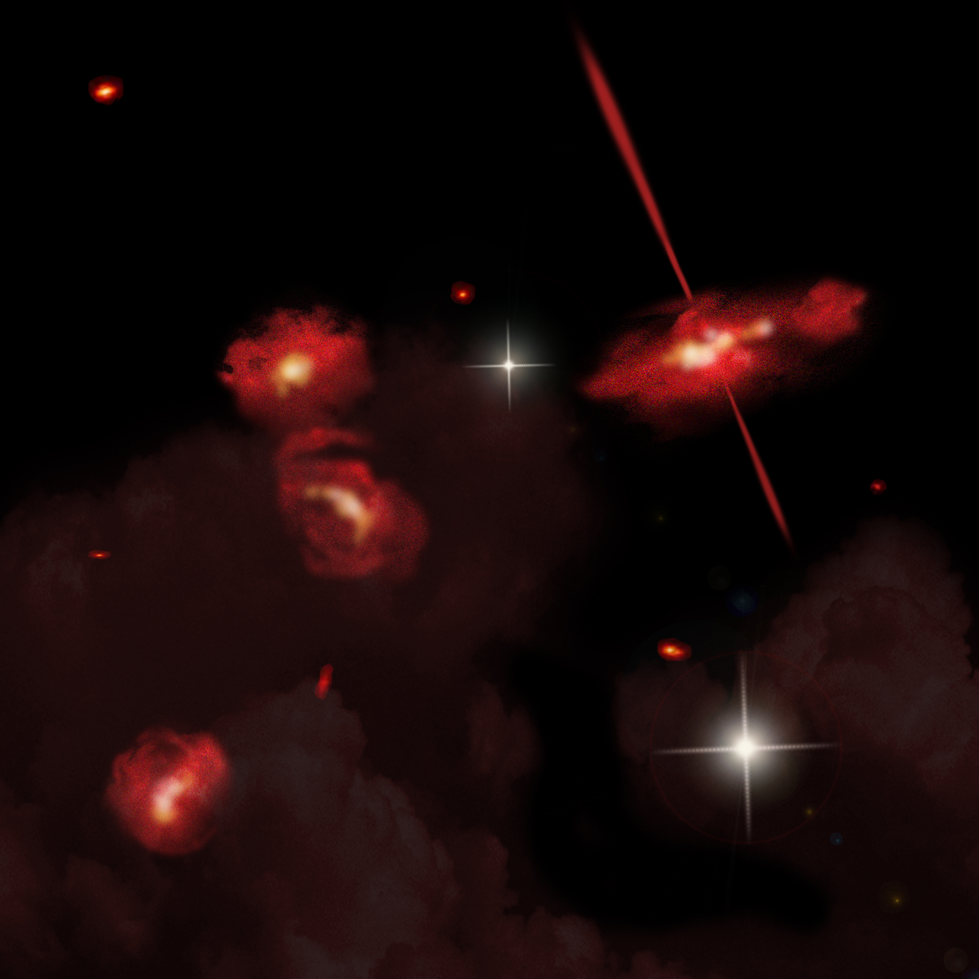 Ultra-Red Galaxies in the Distant Universe