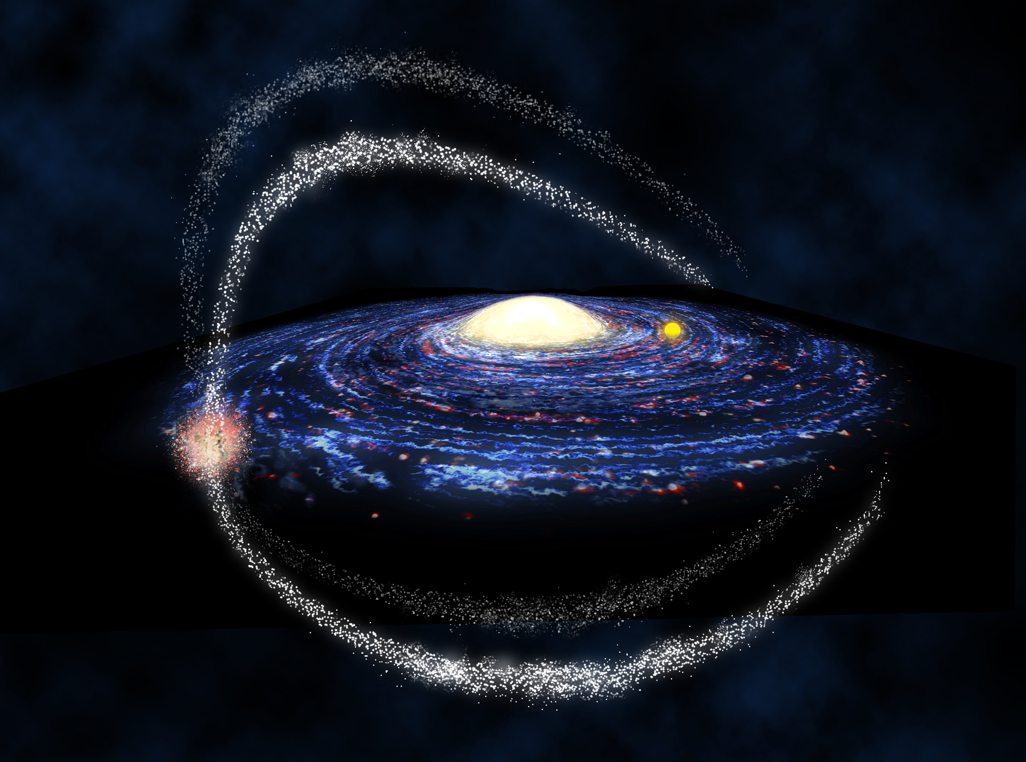 Milky Way's Galactic Gobbling Leaves Star 'Crumbs'