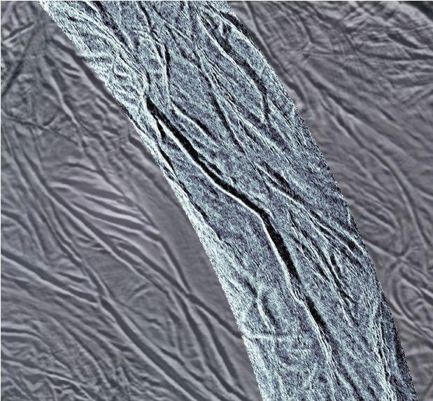 Surface Grooves on Saturn Moon Enceladus