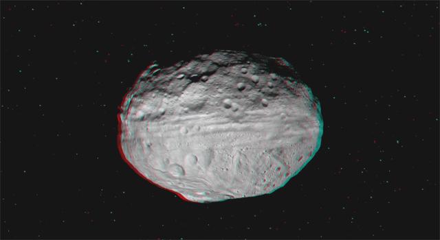 Asteroid Vesta 3D Video