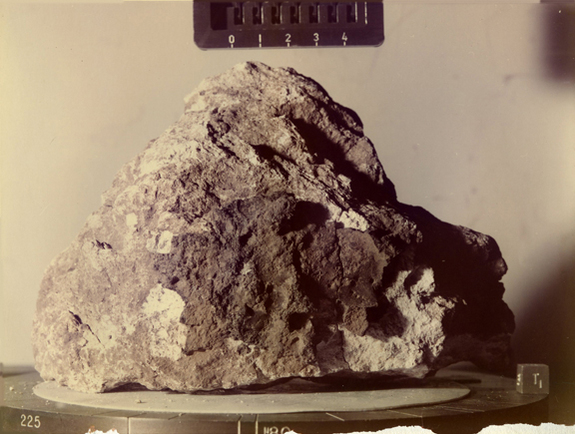 Lunar sample 60025. Apollo 16 astronauts collected this sample in 1972 while on the fifth moon mission — the first mission to sample the lunar highlands