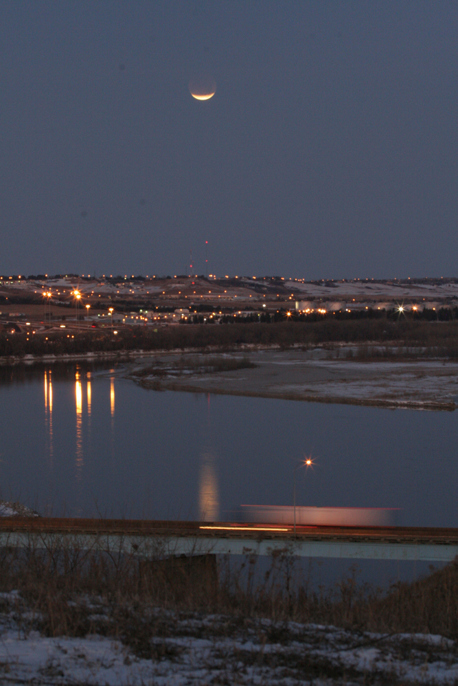 Lunar Eclipse over Bismarck, ND, December 10, 2011