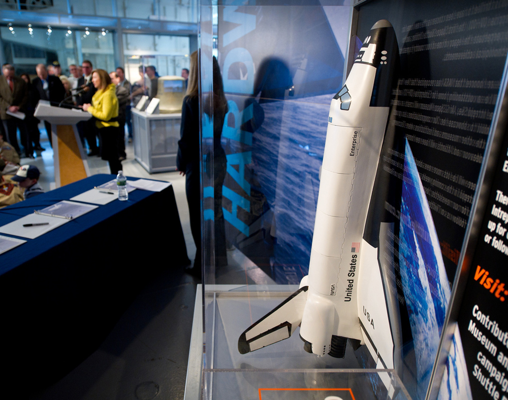 NYC's Intrepid Museum Celebrates Ownership of Space Shuttle Enterprise