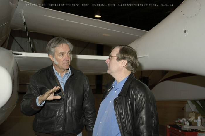 Burt Rutan and Paul Allen - SpaceShipOne