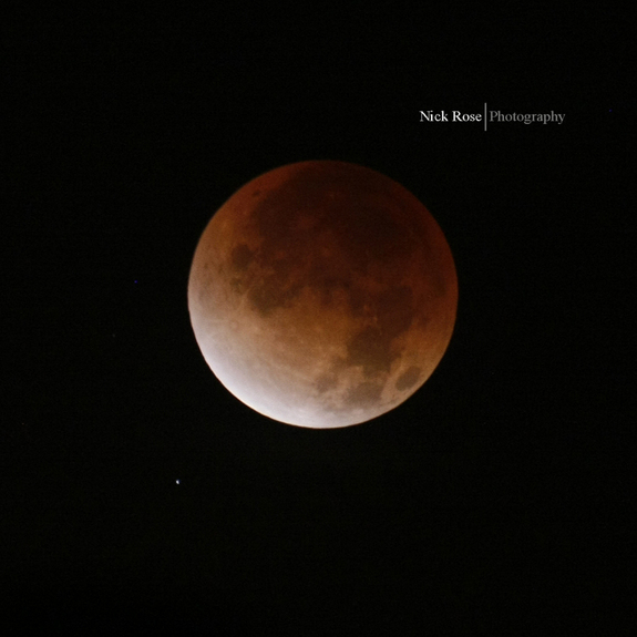 Skywatcher Nick Rose took this photo of the total lunar eclipse Dec. 10 from Millbrae, California.