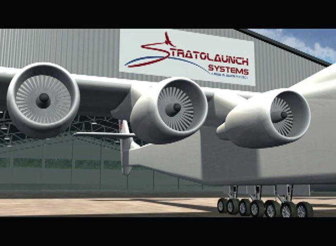 Stratolaunch Powered by Six 747 Engines