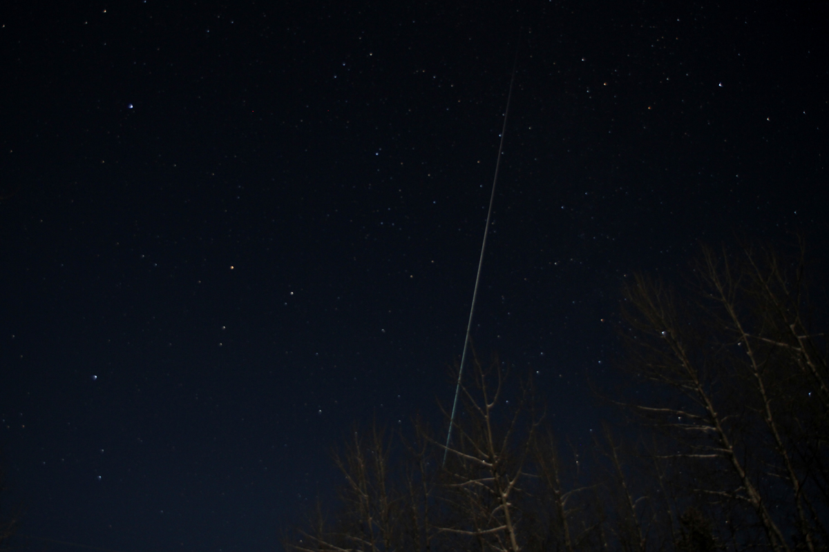 Geminid Meteor Photographed by Daniel Stanyer, December 2011