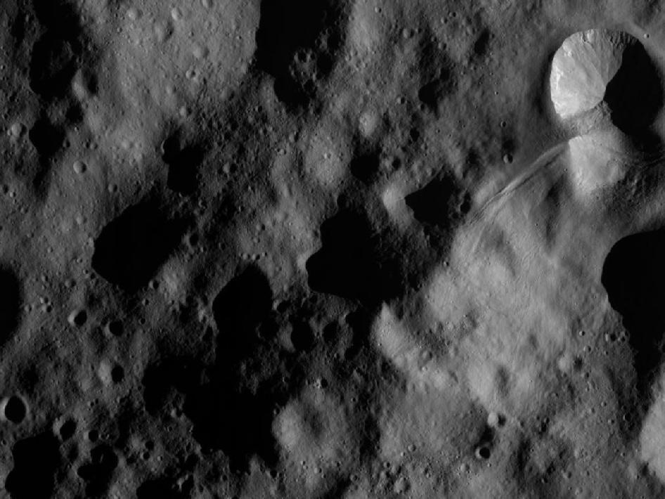 Dawn Orbiting Over Vesta