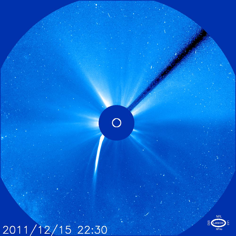 Comet Lovejoy Image by NRL/SOHO/LASCO