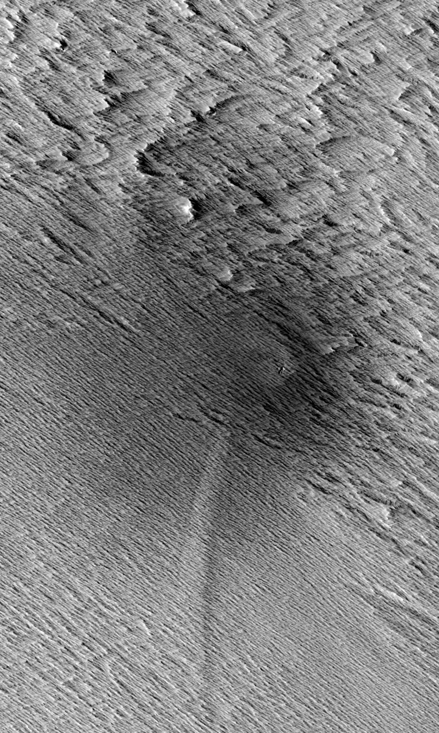 Meteorites Trigger Avalanches on Mars
