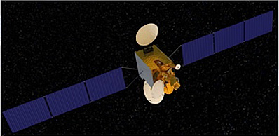 Artist's concept of the Nigcomsat 1R satellite.