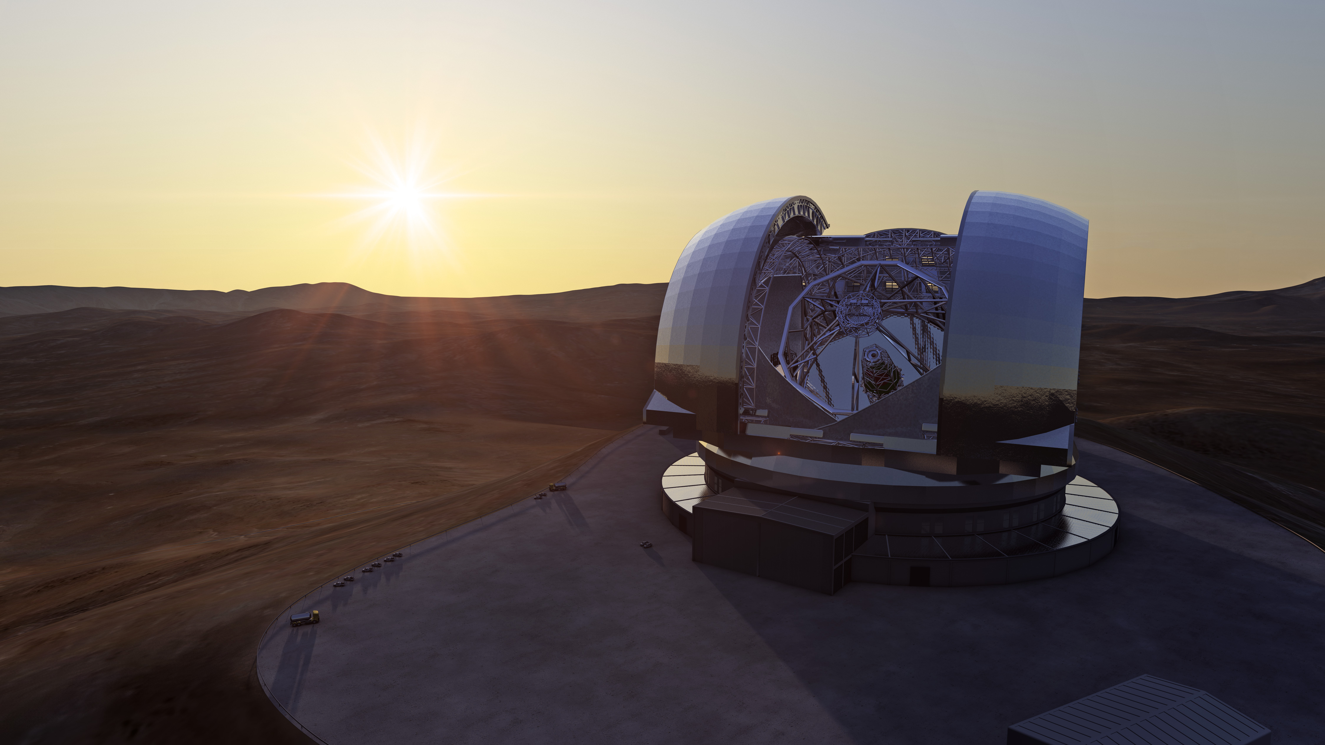 Ten Huge Telescopes on Earth