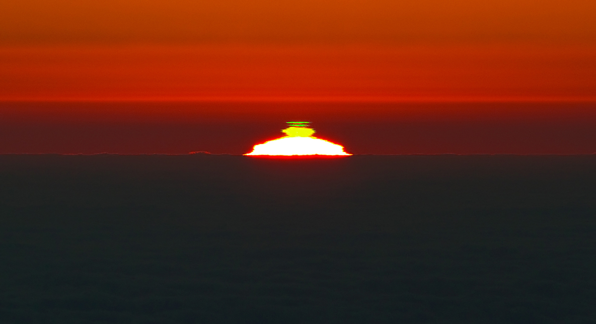 A Sunset Double Green Flash