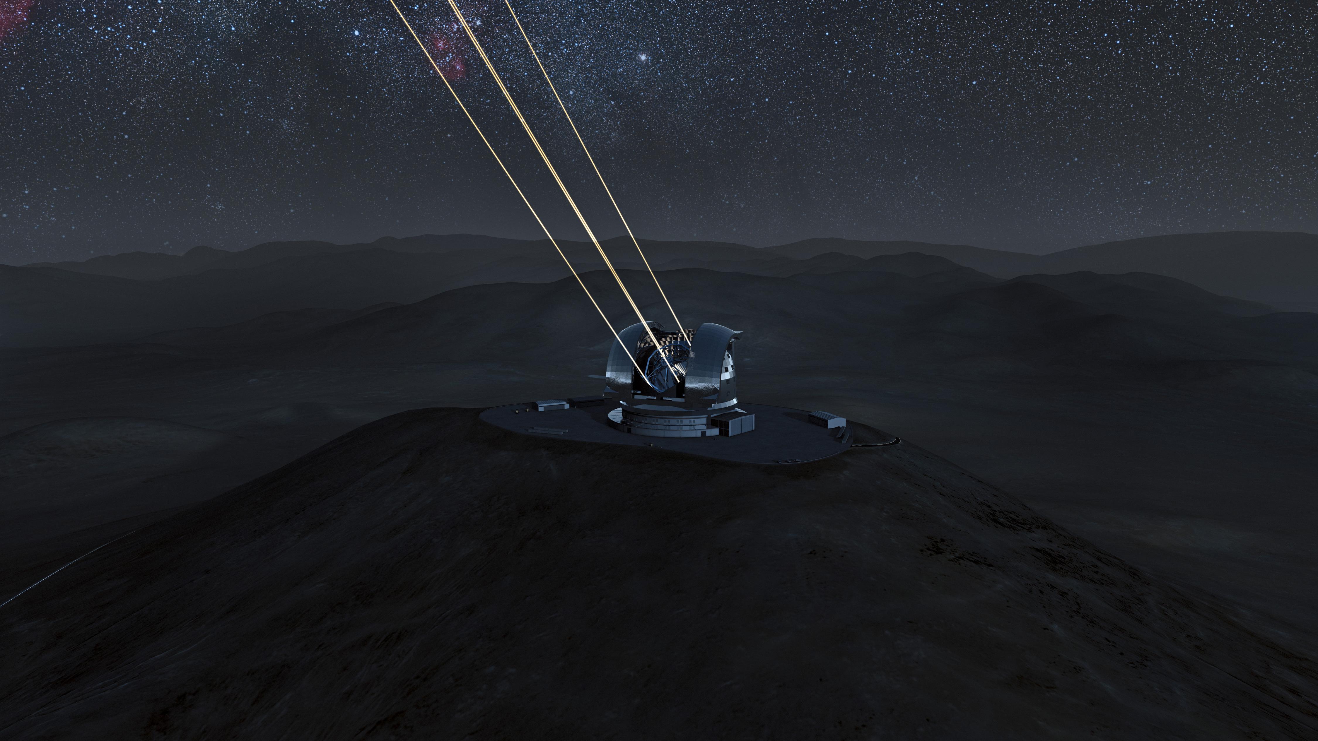 World's Largest Telescope Beams