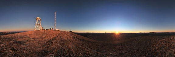 Panoramic view of Cerro Armazones in the Atacama Desert, near ESO's Paranal Observatory, at sunset. Cerro Armazones is the selected site for the planned European Extremely Large Telescope (E-ELT), which, with its 40-metre-class diameter mirror, will be the world's biggest eye on the sky.