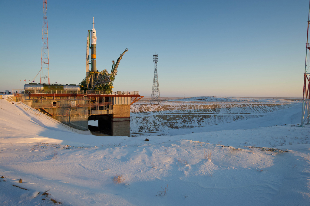 Soyuz Rocket Stands Tall in Baikonur