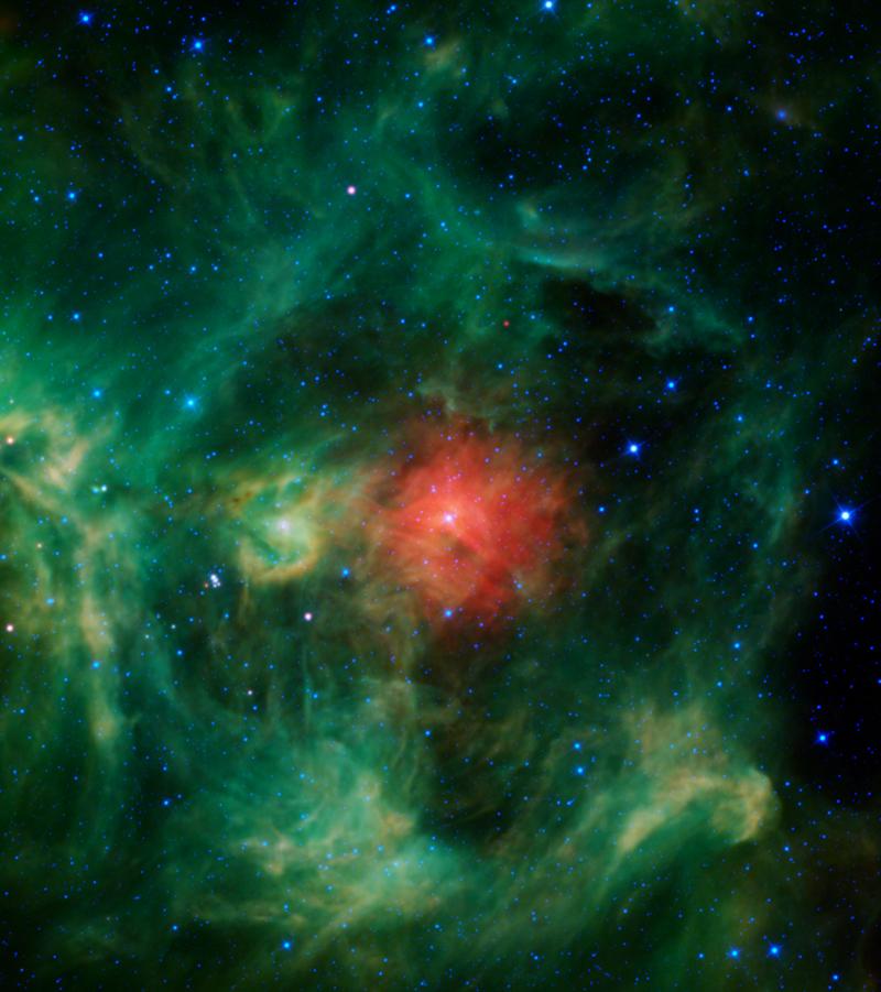 WISE Captures Photo of Cosmic Wreath