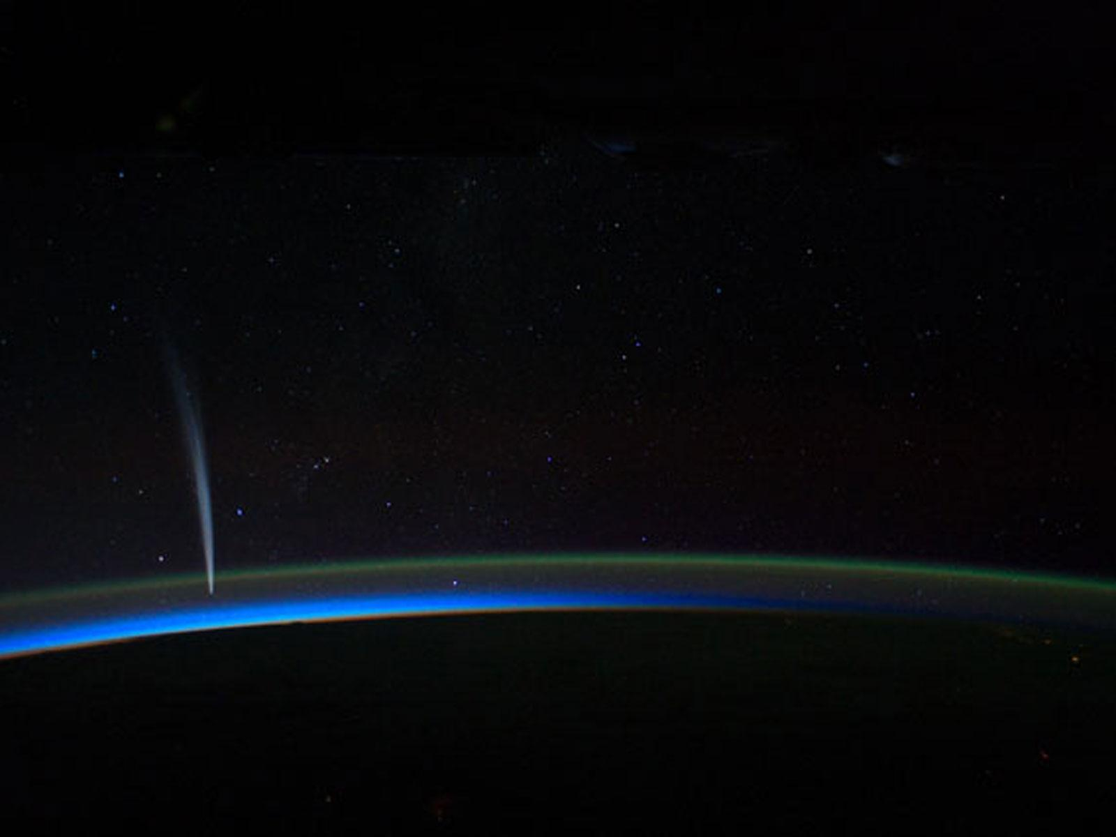 Comet Lovejoy From Space Station