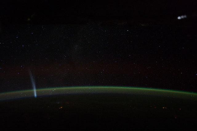 Comet Lovejoy From Space Station 2