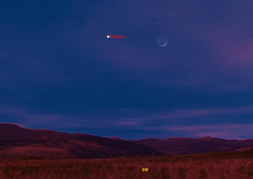 Moon & Venus Put On Post-Christmas Sky Show